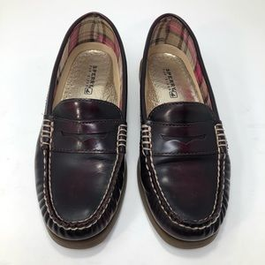 Sperry Burgundy Leather Comfy Penny Loafers
